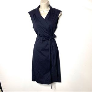 Theory Julissa navy wrap midi dress 10 C8